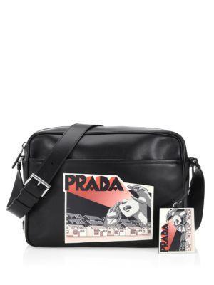 Prada Graphic Messenger Bag