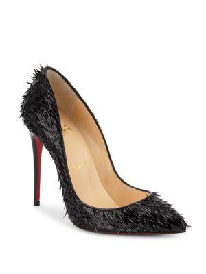 Christian Louboutin Pigalle Follies Frayed Patent Leather Pumps