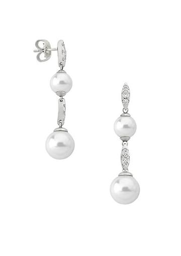 Majorica Exquisite Faux-pearl Tiered Drop Earrings