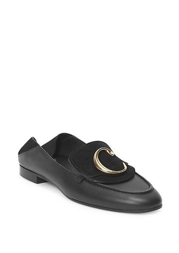 Chloe C Leather & Nubuck Loafers