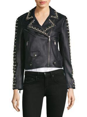 Rebecca Minkoff Wes Pearl Moto Jacket