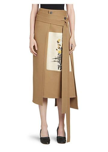 Loewe Wool & Cashmere Botanical Wrap Skirt