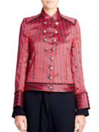 Ann Demeulemeester Striped Military Jacket
