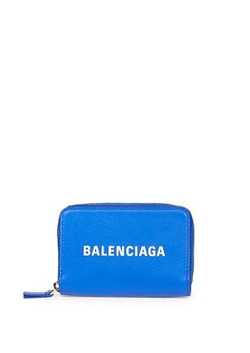 Balenciaga Everyday Leather Logo Coin Pouch