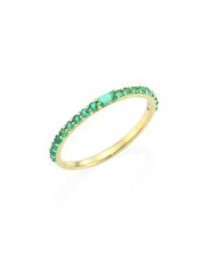 Ila Manava Emerald & 14k Yellow Gold Band Ring