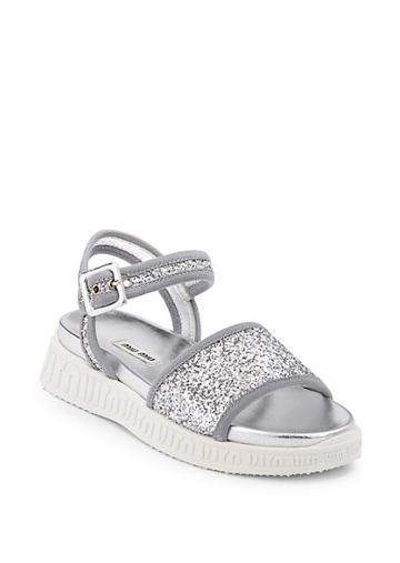 Miu Miu Miu Trek Glitter Sandals