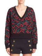 Chloe Cherry Printed Sweater