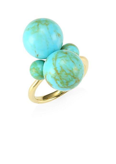 Ippolita Nova 18k Yellow Gold & Turquoise Ring
