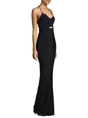Milly Mckenna Deep V-neck Floor-length Dress