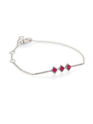 Meira T Diamond & Ruby Bracelet