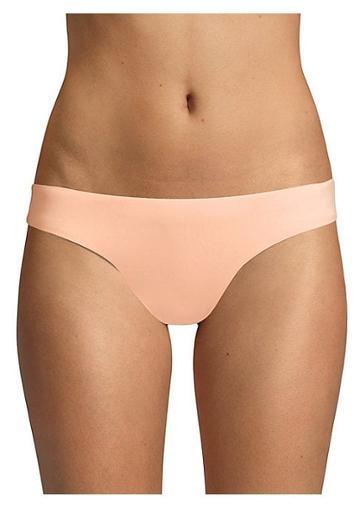 Pilyq Papaya Smocked Bikini Bottom