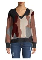 360 Cashmere Skull Cashmere Cropped Sweater