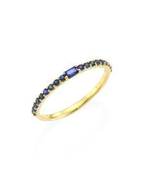 Ila Manava Blue Sapphire & 14k Yellow Gold Band Ring