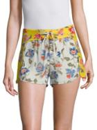 Joie Deodata Floral Silk Shorts