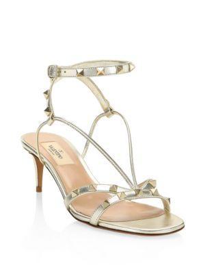 Valentino Garavani Leather Slingback Sandals
