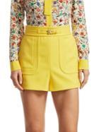 Redvalentino Belt Detailed Shorts
