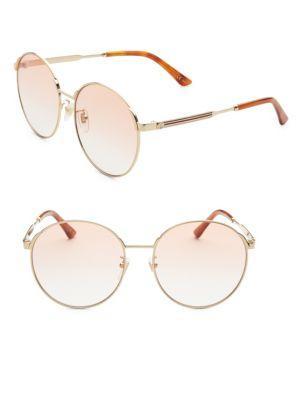 Gucci 58mm Round Sunglasses