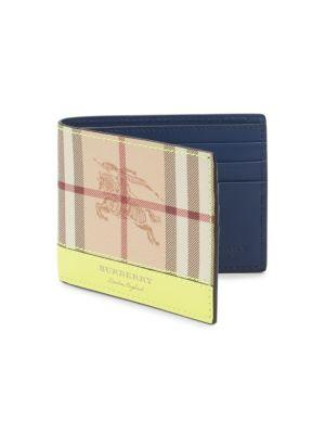 Burberry Signature Plaid Bi-fold Wallet