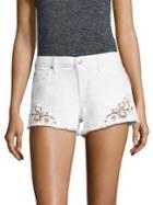 Joe's Embroidered Frayed Denim Shorts