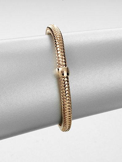 Roberto Coin 18k Rose Gold Bangle Bracelet
