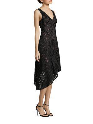 Aidan Mattox Sleeveless Asymmetrical Hem Cocktail Dress