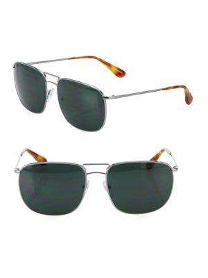 Prada 60mm Tortoise Pillow Sunglasses
