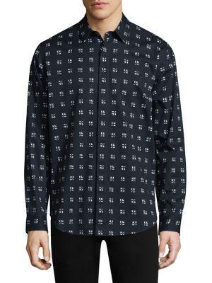 Theory Regular-fit Cross Box Levy Shirt