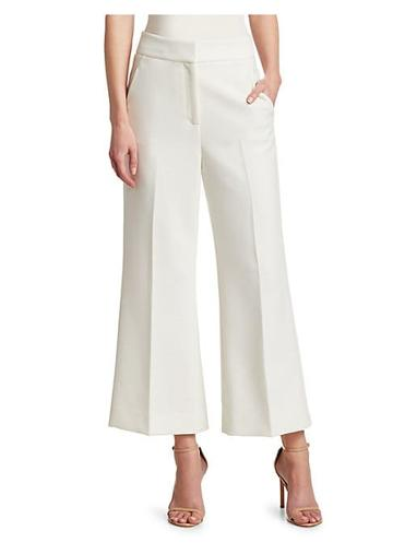 St. John Bella Cropped Flared Pants