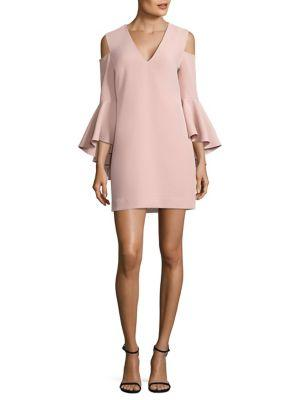 Milly Nicole Cold Shoulder Bell Sleeve Dress