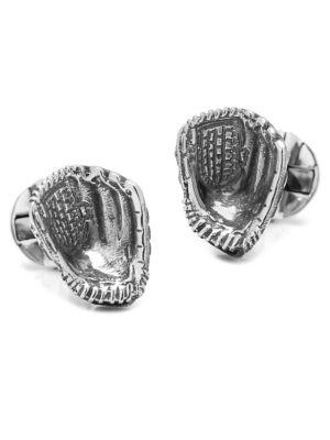 Cufflinks, Inc. Sterling Silver Baseball Glove Cuff Links