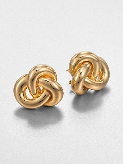 Roberto Coin 18k Yellow Gold Knot Earrings