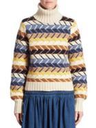 Chloe Herringbone Turtleneck Sweater
