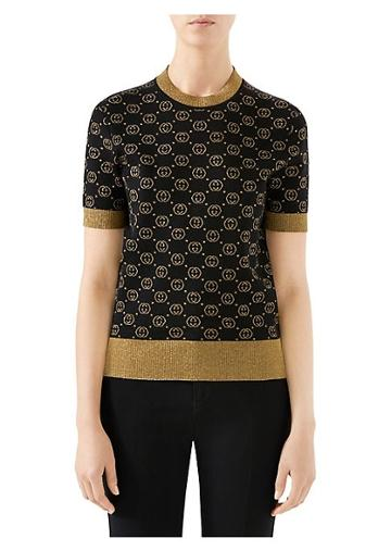 Gucci Fine Wool Knit Gg Lurex Sweater