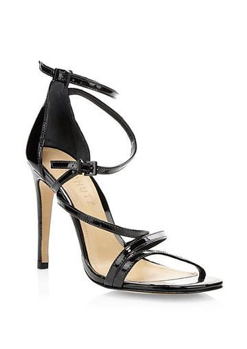 Schutz Licah Strappy Patent Leather Stiletto Sandals