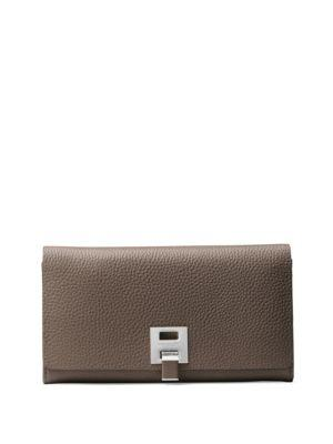 Michael Kors Collection Textured Leather Continental Wallet