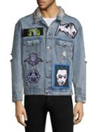 Haculla Distressed Patched Denim Jacket