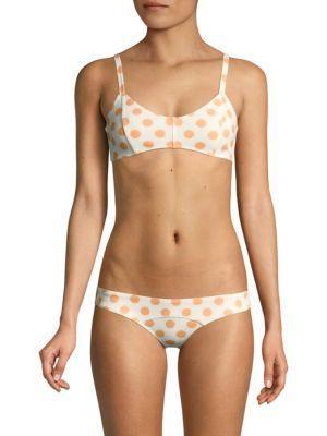 Lisa Marie Fernandez Crepe Polka Dot Bikini