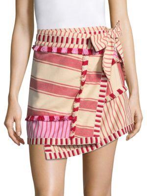 Dodo Bar Or Hoze Asymmetric Striped Skirt