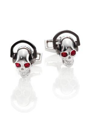 Tateossian Dj Skull Cuff Links