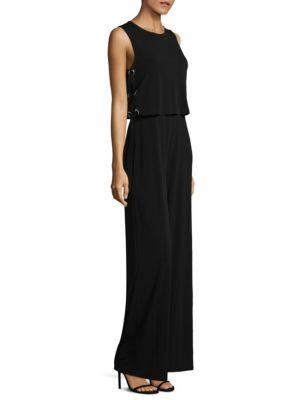 Michael Michael Kors Lace-up Side Jumpsuit