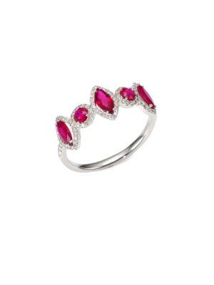 Meira T Diamond & Ruby Ring