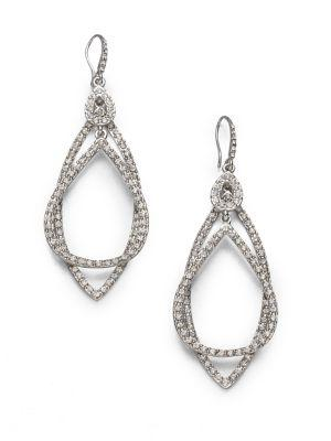 Abs By Allen Schwartz Jewelry Pave Double Loop Earrings