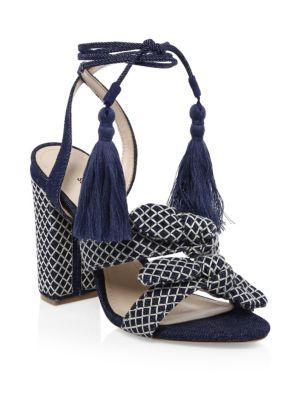 Schutz Leyrieli Denim Block-heels