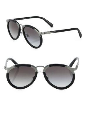 Prada 56mm Pilot Sunglasses