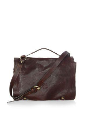 Il Bisonte Adjustable Strap Messenger Bag