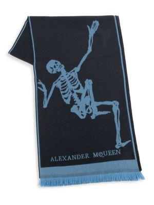Alexander Mcqueen Oversized Skeleton Scarf