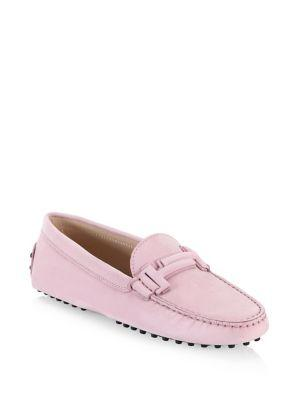 Tod's Gommini Maxi Doppia Suede Driving Loafers