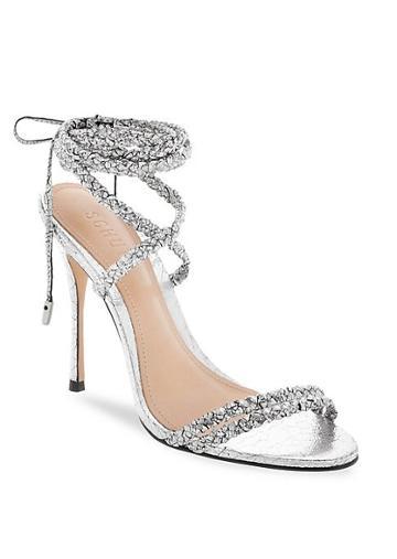 Schutz Lany Braided Stiletto Sandals