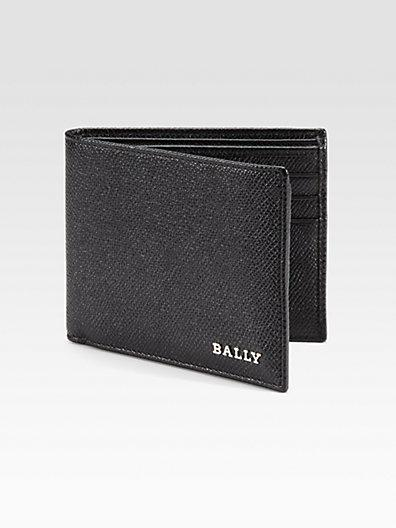 Bally Leather Billfold Wallet