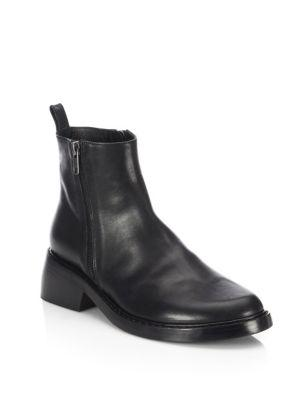 Ann Demeulemeester Side-zip Leather Ankle Boots